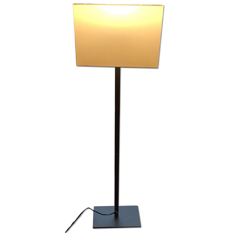 CB2 Gray & White Floor Lamp - image-0