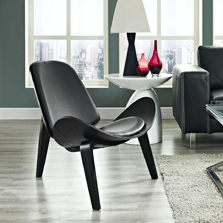 Black Lounge Chair - image-4