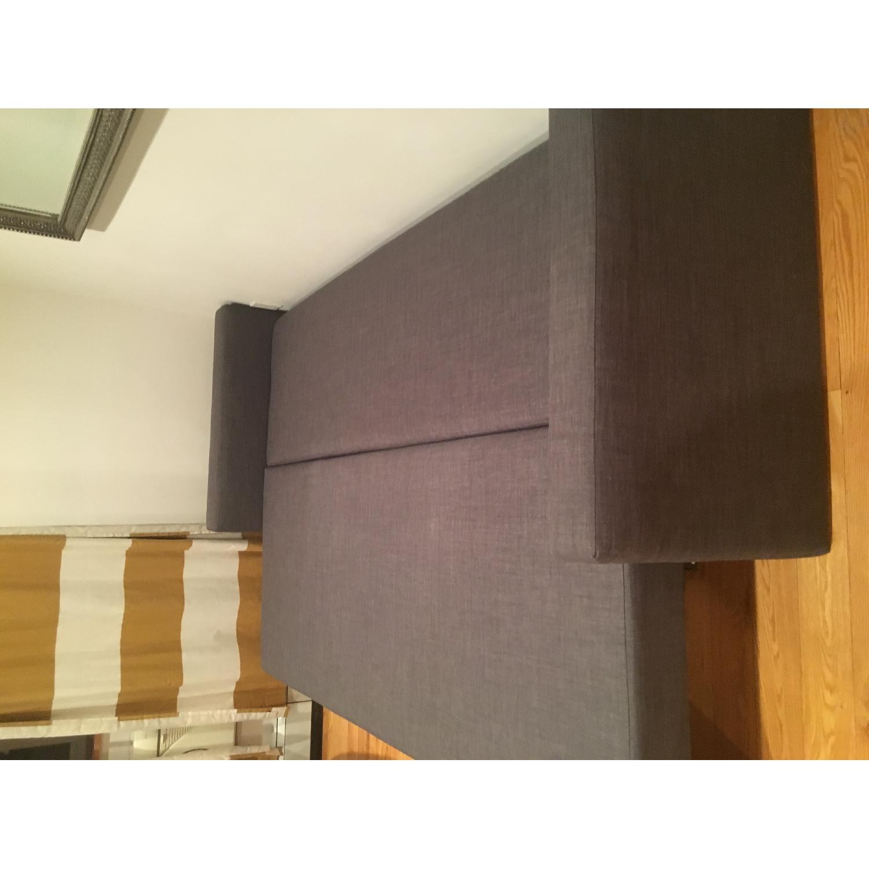 Ikea Grey Sofa Bed w/ Storage - image-3