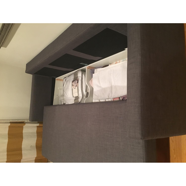 Ikea Grey Sofa Bed w/ Storage - image-5