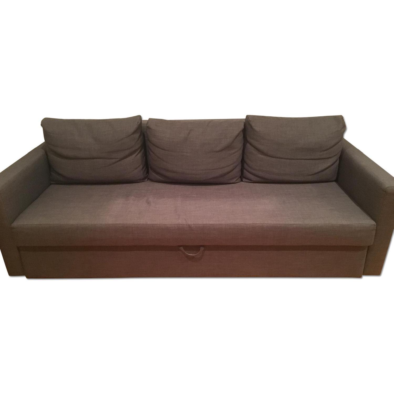 Ikea Grey Sofa Bed w/ Storage - image-0