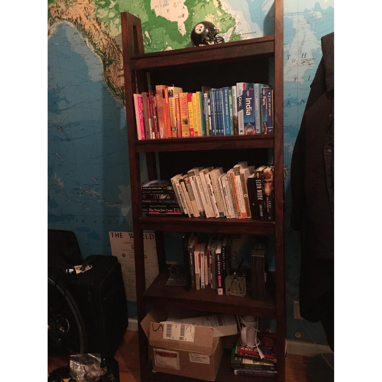 Crate & Barrel Strut Sheesham Bookcase - image-1