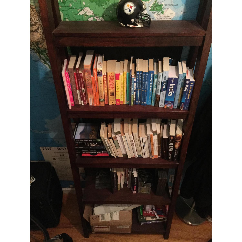 Crate & Barrel Strut Sheesham Bookcase - image-3