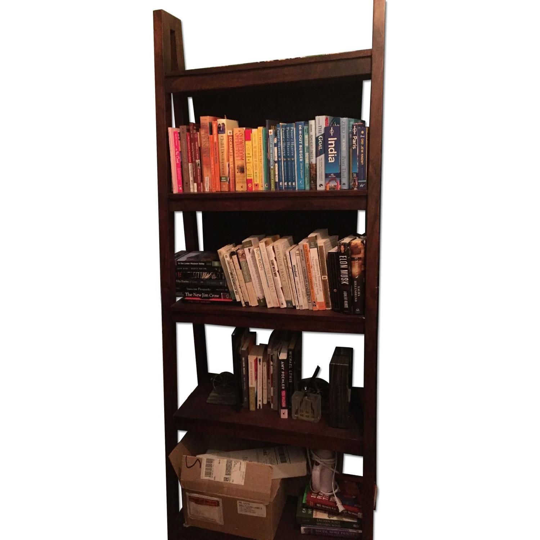 Crate & Barrel Strut Sheesham Bookcase - image-0