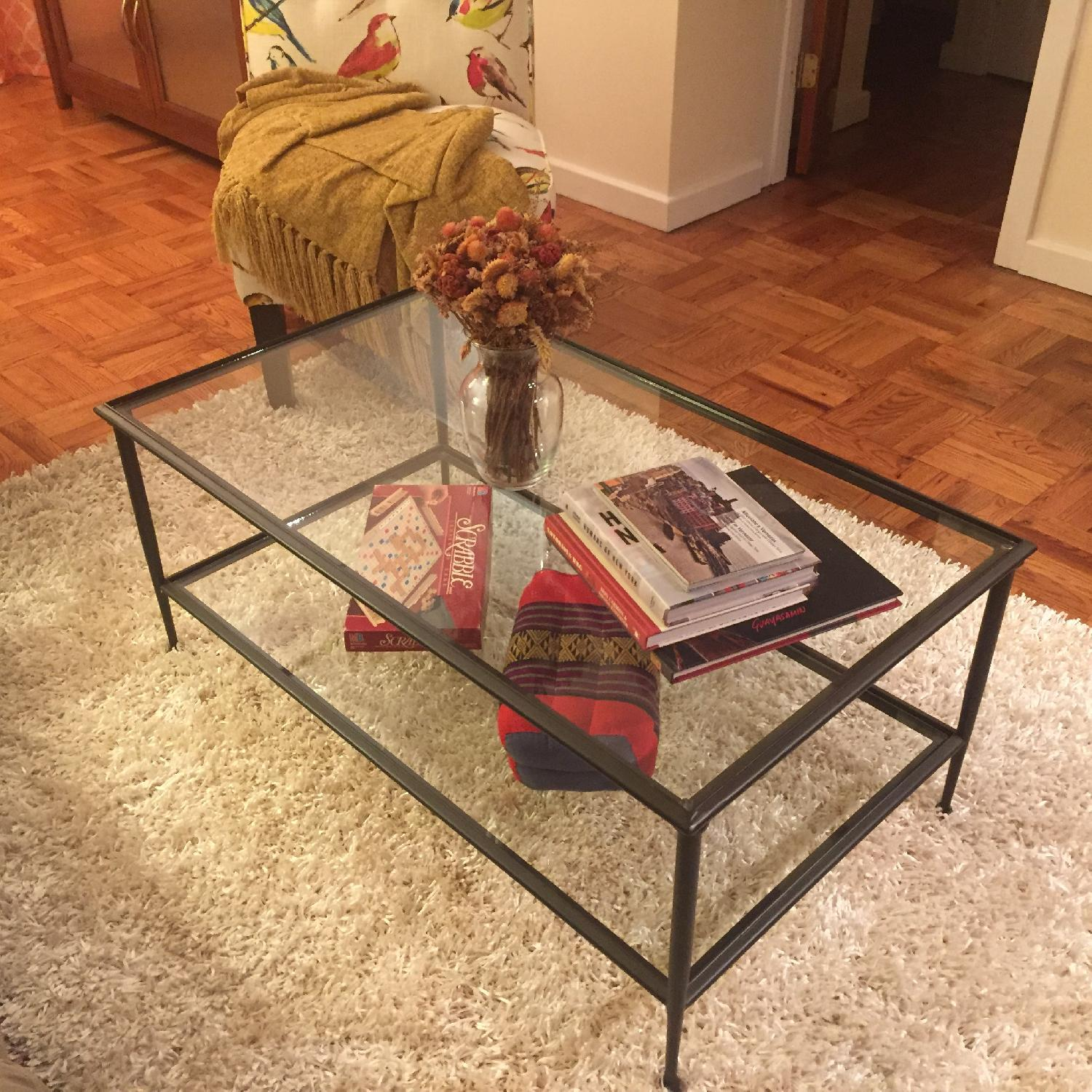 Crate & Barrel Glass Coffee Table - image-1