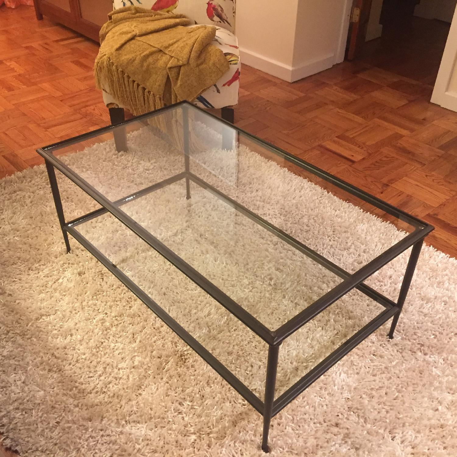 Crate & Barrel Glass Coffee Table - image-2