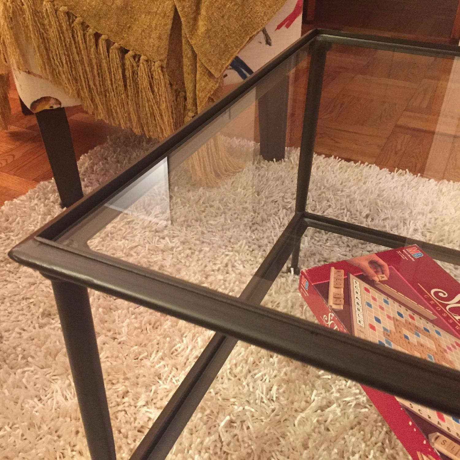 Crate & Barrel Glass Coffee Table - image-5
