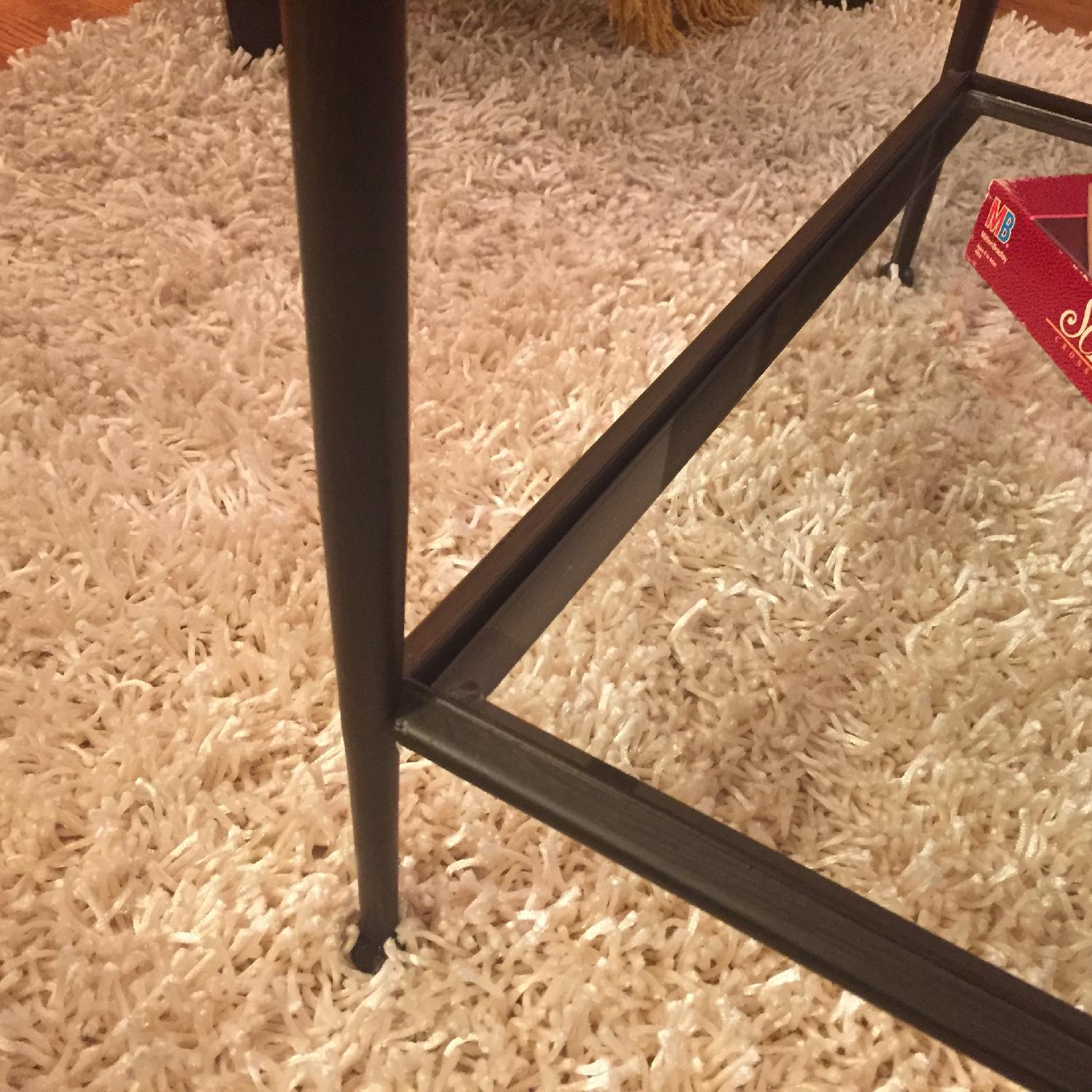 Crate & Barrel Glass Coffee Table - image-6