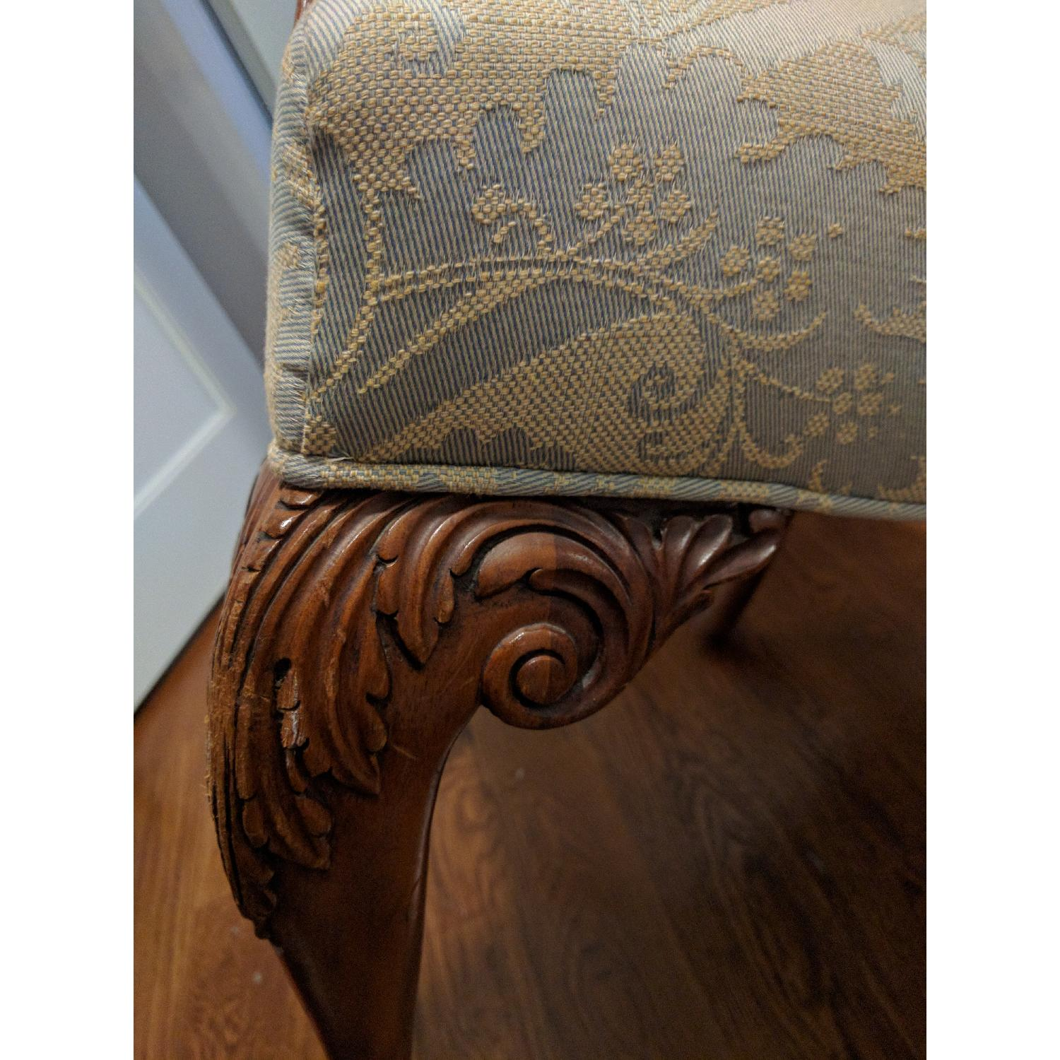 Antique Re-Upholstered Chippendale Carved Wood Chair - image-3
