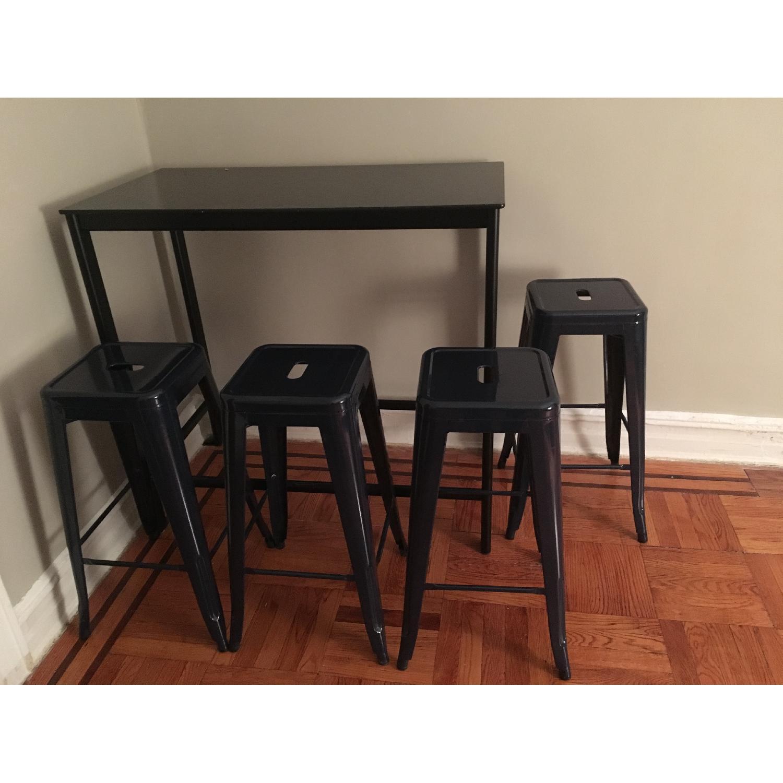 Ikea Garpen Bar Table w/ 4 Stools - image-1