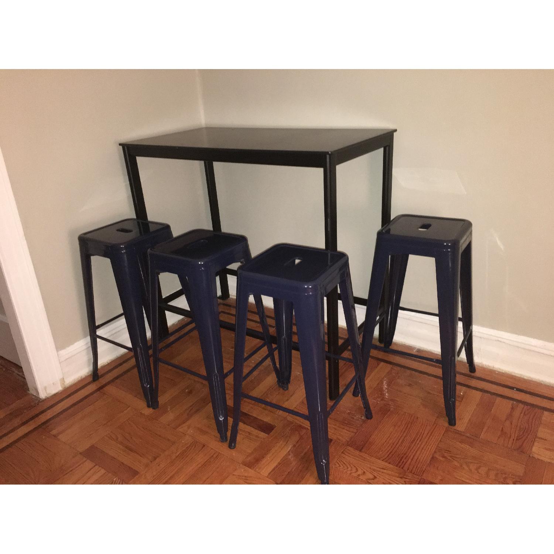 Ikea Garpen Bar Table w/ 4 Stools - image-2