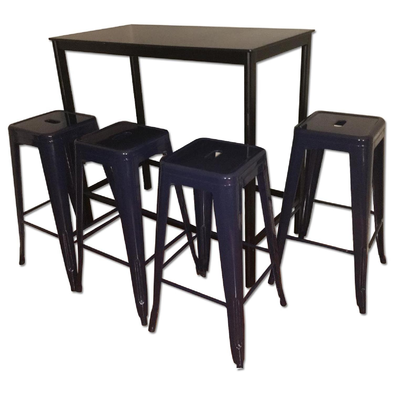 Ikea Garpen Bar Table w/ 4 Stools - image-0