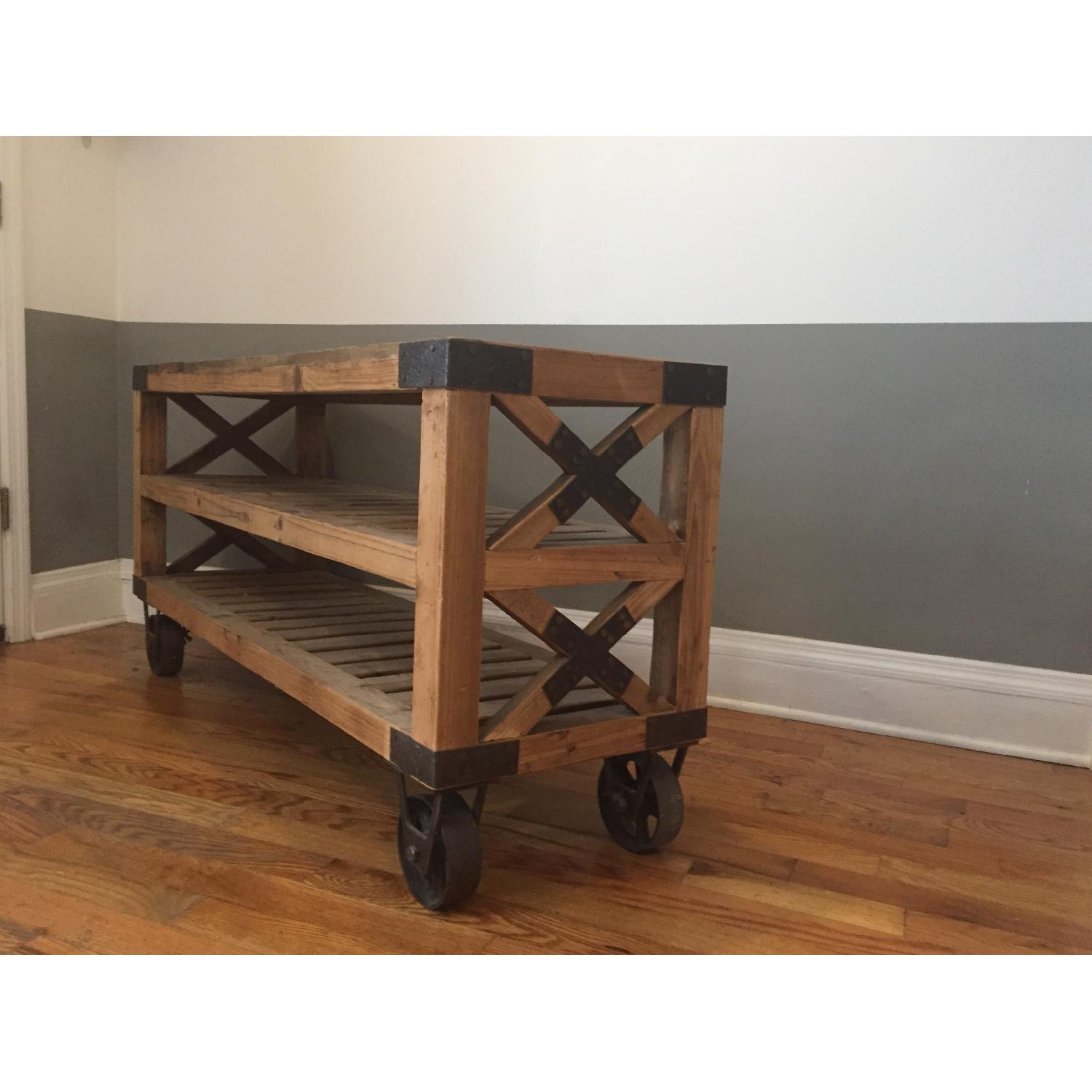 Industrial Style Rolling Shelves - image-3