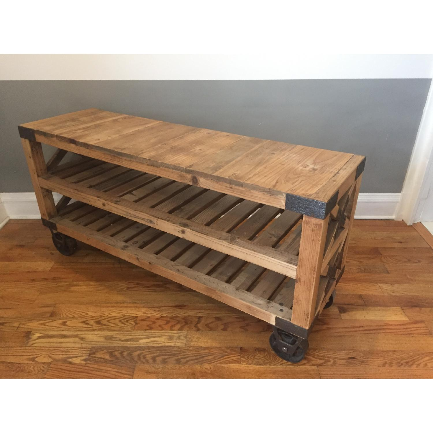 Industrial Style Rolling Shelves - image-4