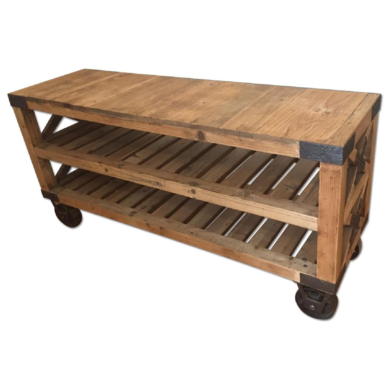 Industrial Style Rolling Shelves - image-0