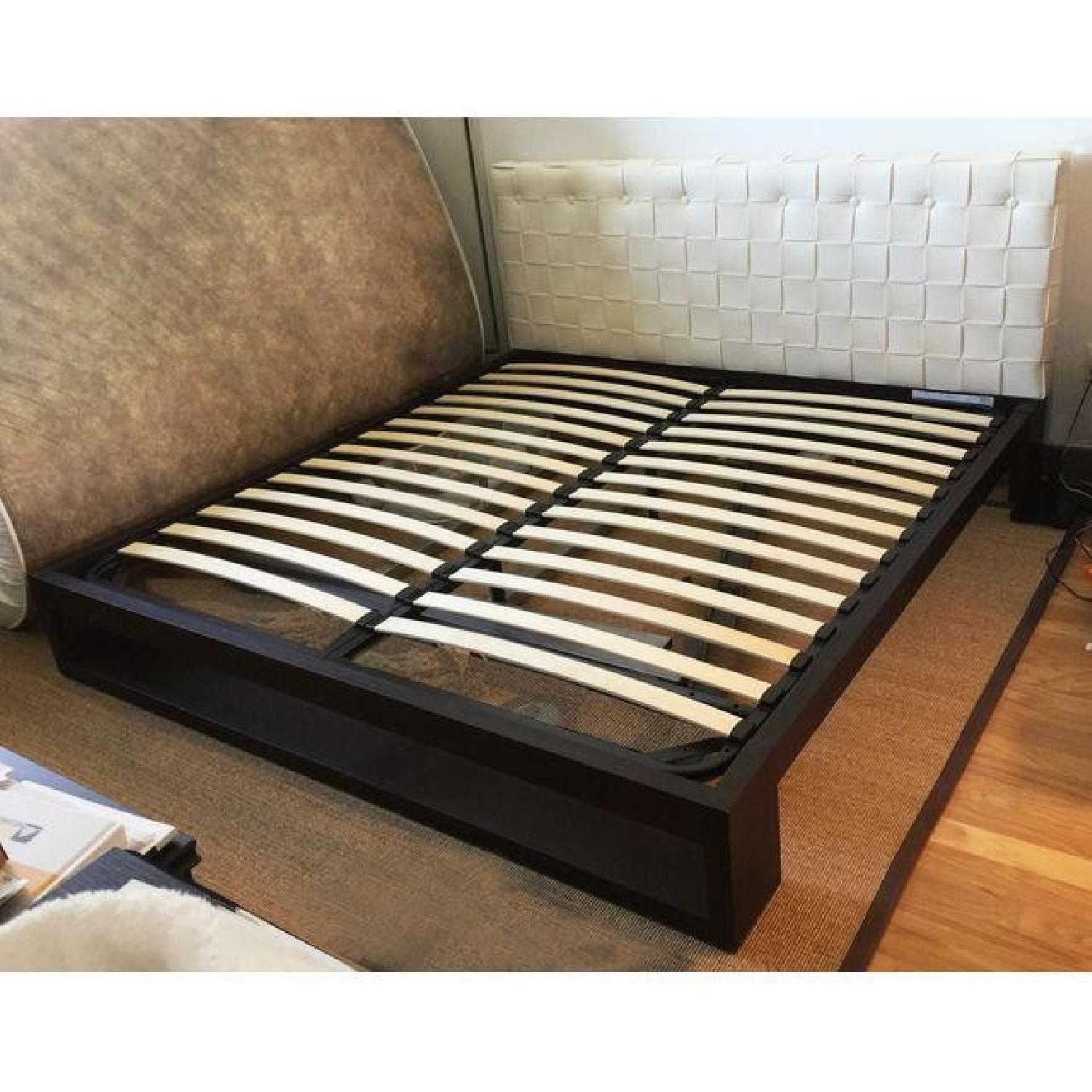 Calligaris King Bed Frame / Faux Leather Headboard - image-3