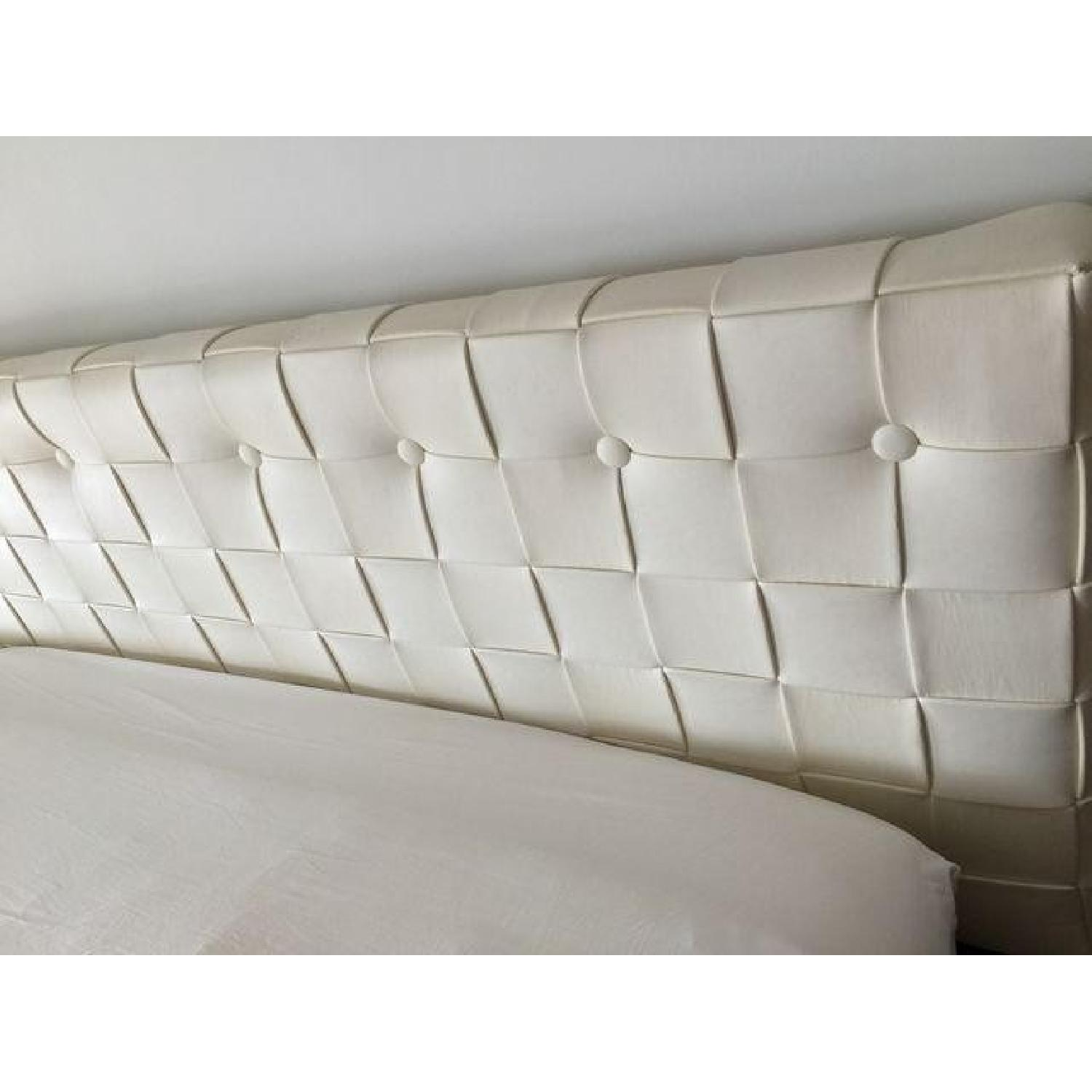 Calligaris King Bed Frame / Faux Leather Headboard - image-6
