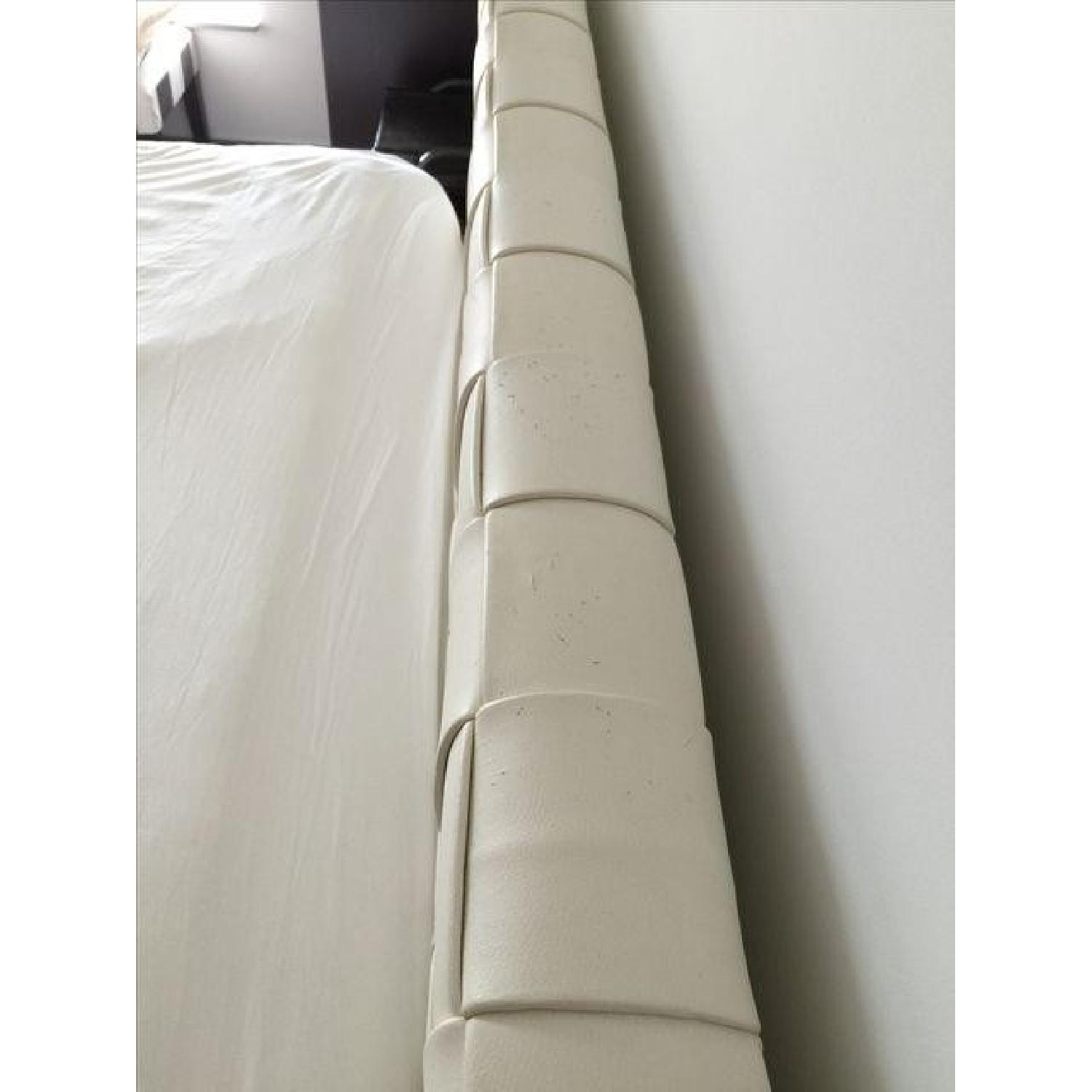 Calligaris King Bed Frame / Faux Leather Headboard - image-7