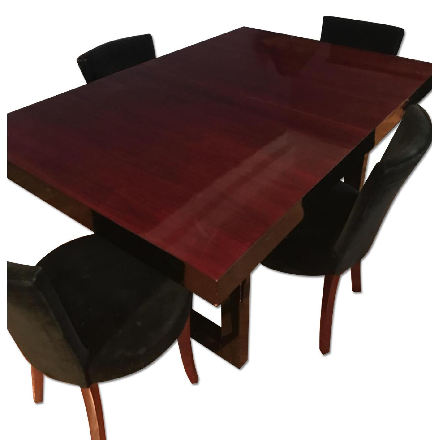 Depression Modern Extendable Dining Table w/ 4 Chairs - image-0