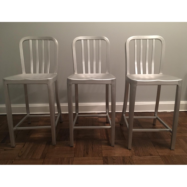 Crate & Barrel Delta Aluminum Bar Stools - image-2
