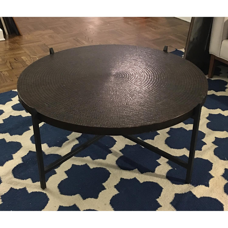 Crate & Barrel Copper Coffee Table - image-2
