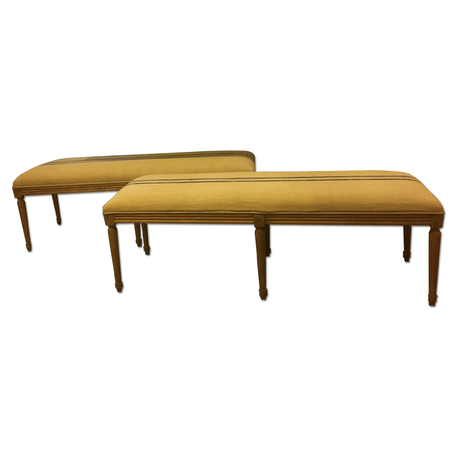 Louis XVI Style Dining Benches - image-0