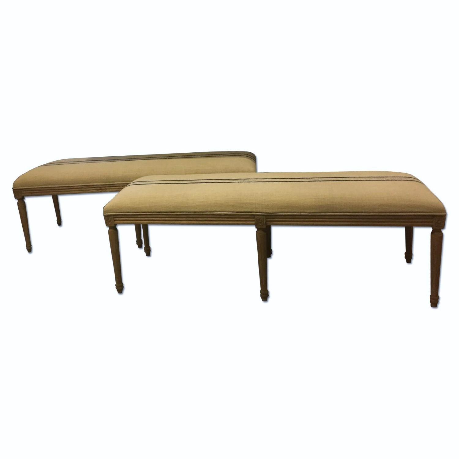 Louis XVI Style Dining Benches - image-9