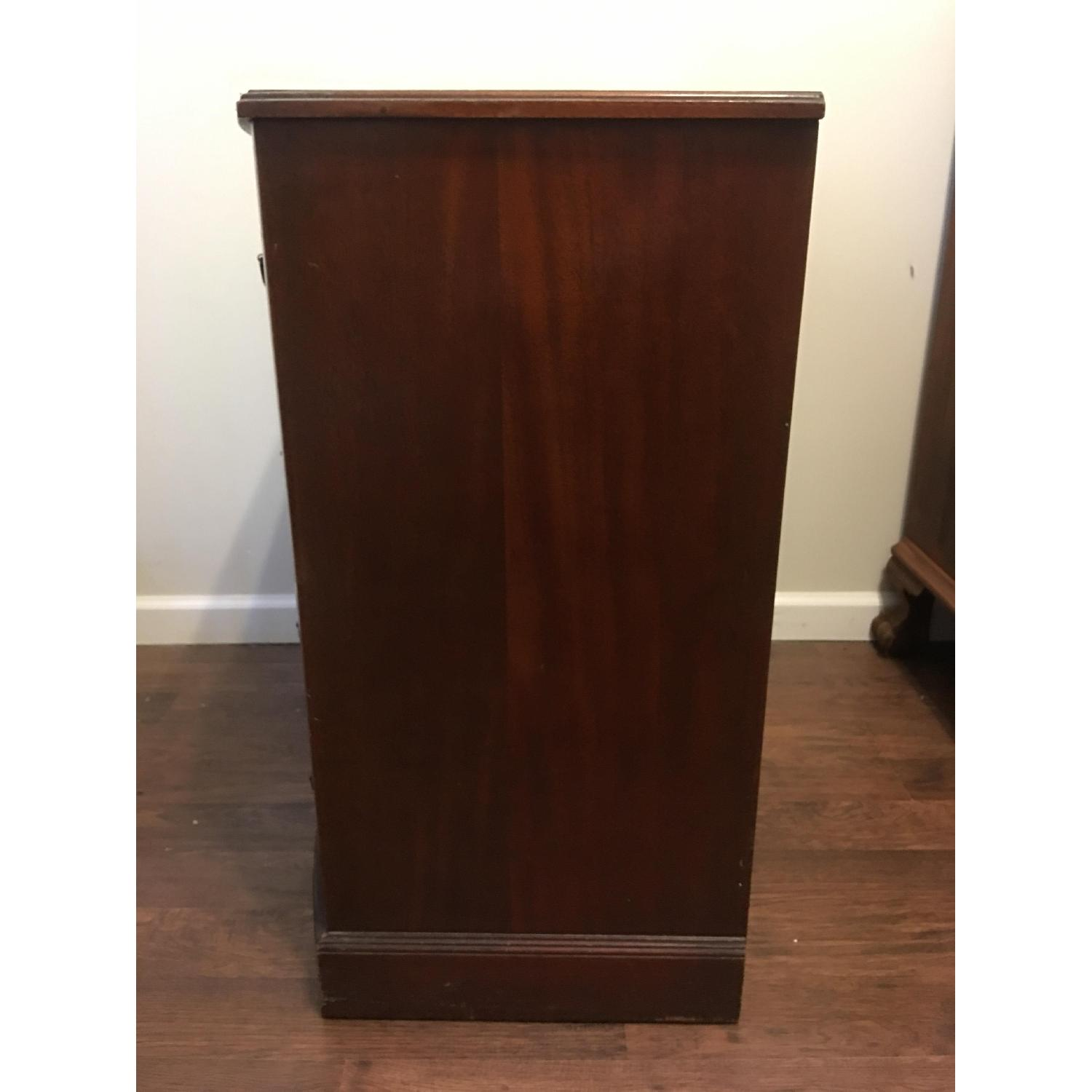 Leather Scroll Top Chest of Drawers - image-2