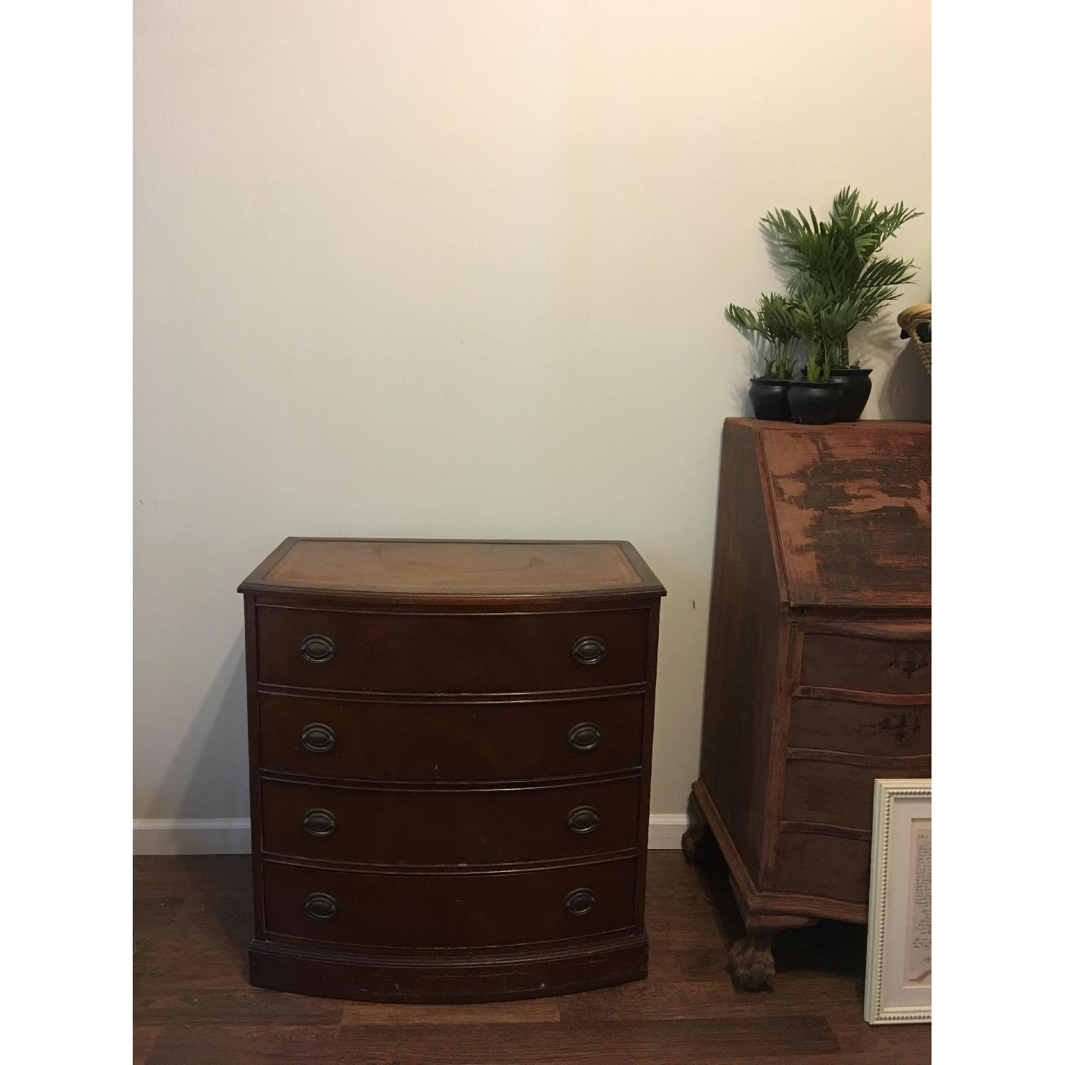Leather Scroll Top Chest of Drawers - image-4