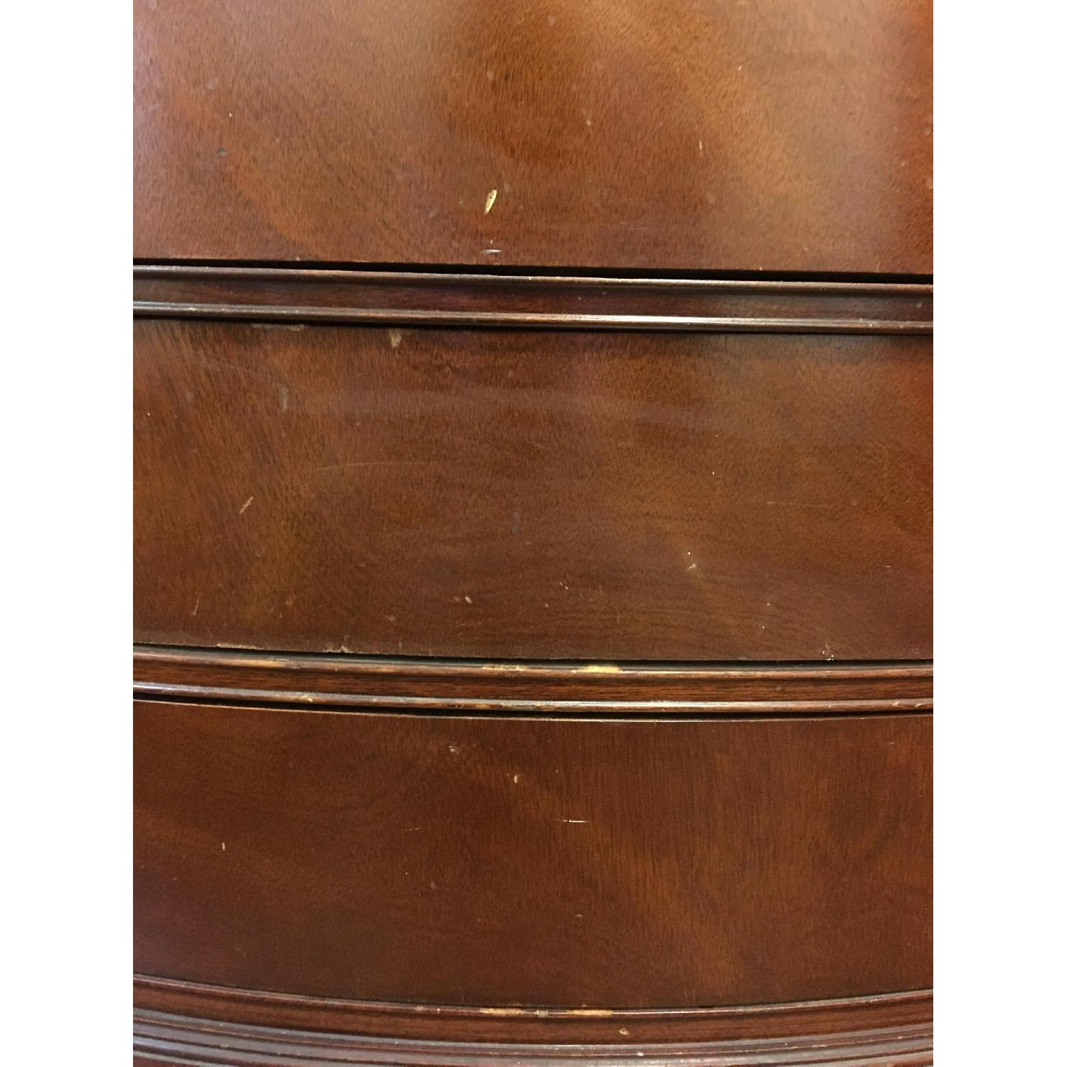 Leather Scroll Top Chest of Drawers - image-7