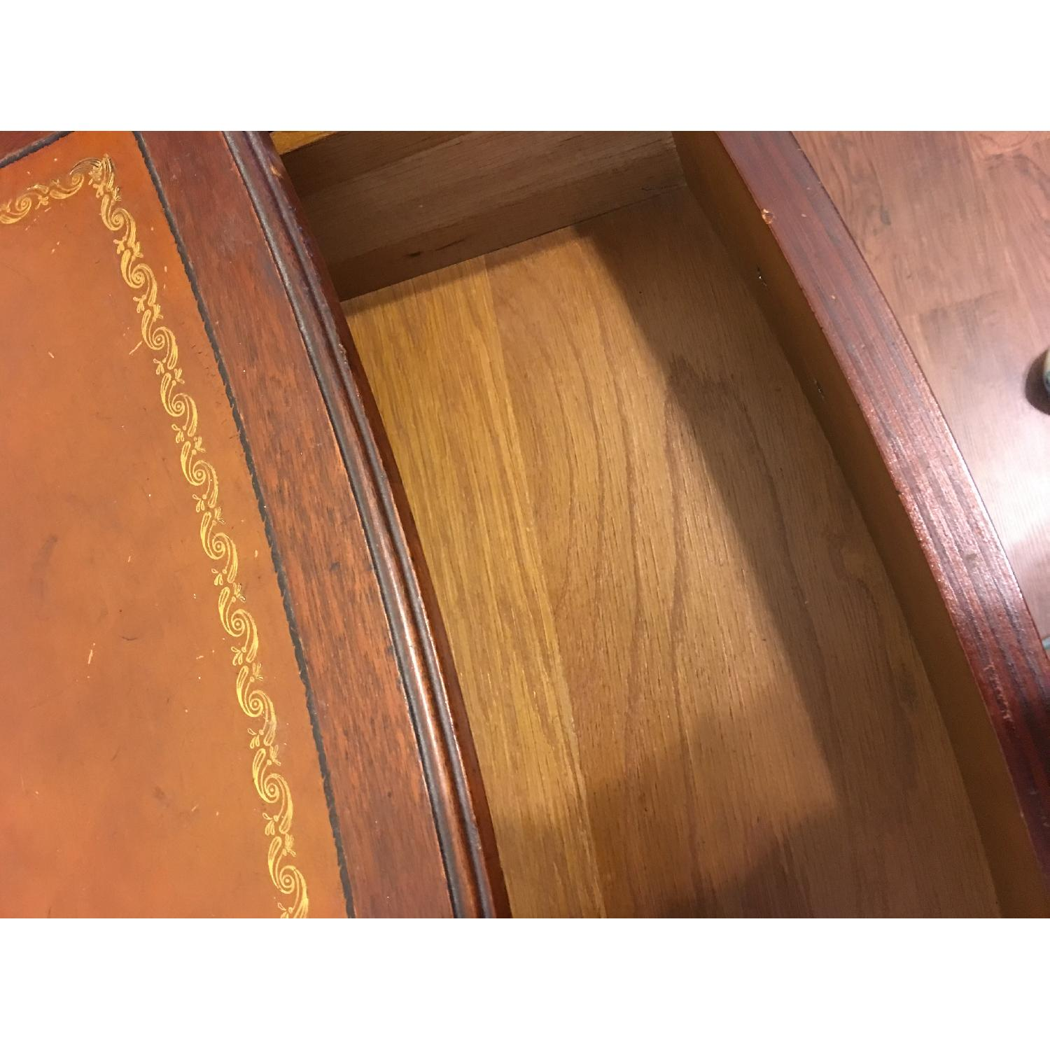 Leather Scroll Top Chest of Drawers - image-9