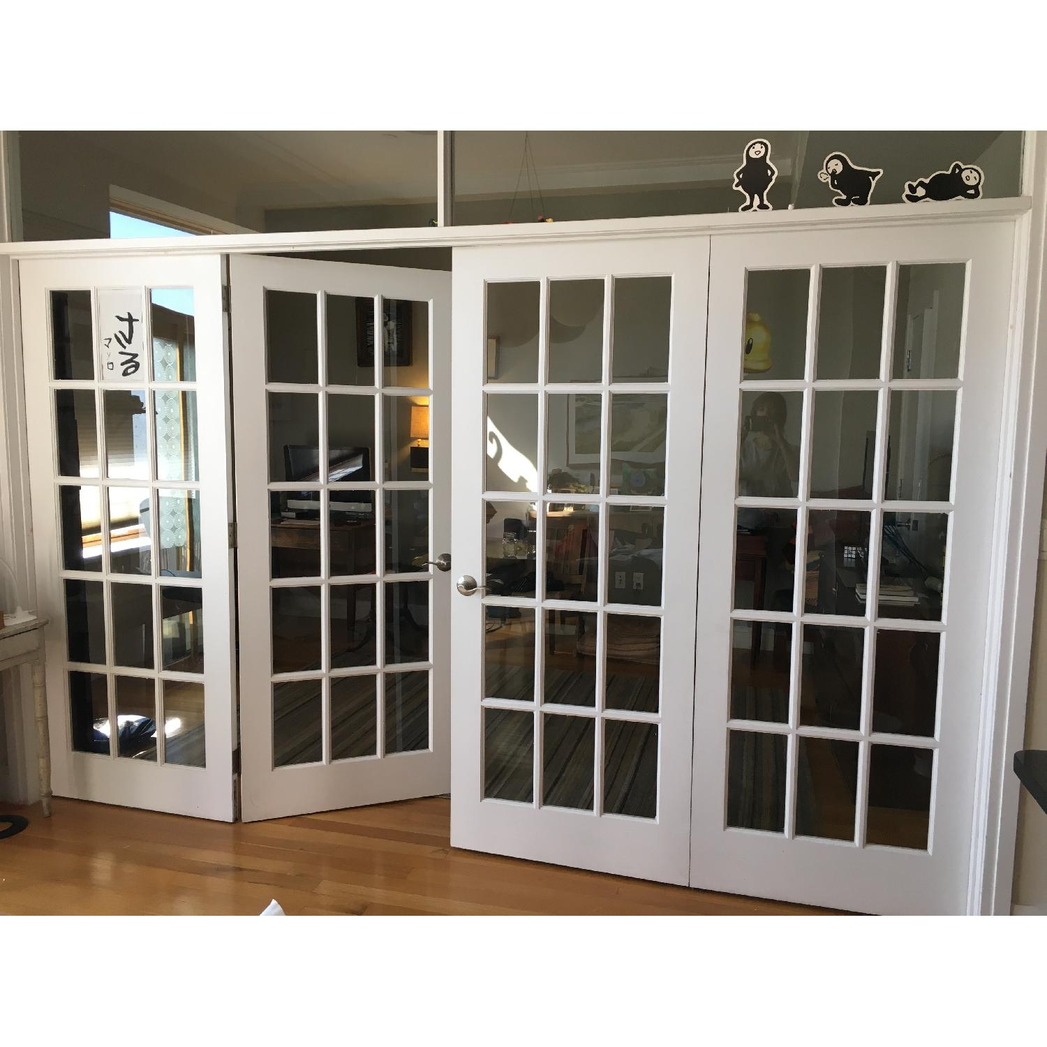 French Door 4 Panel Room Divider - image-1