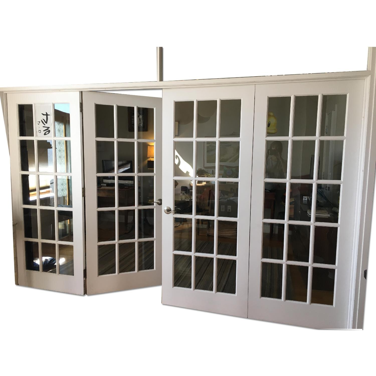 French Door 4 Panel Room Divider - image-0