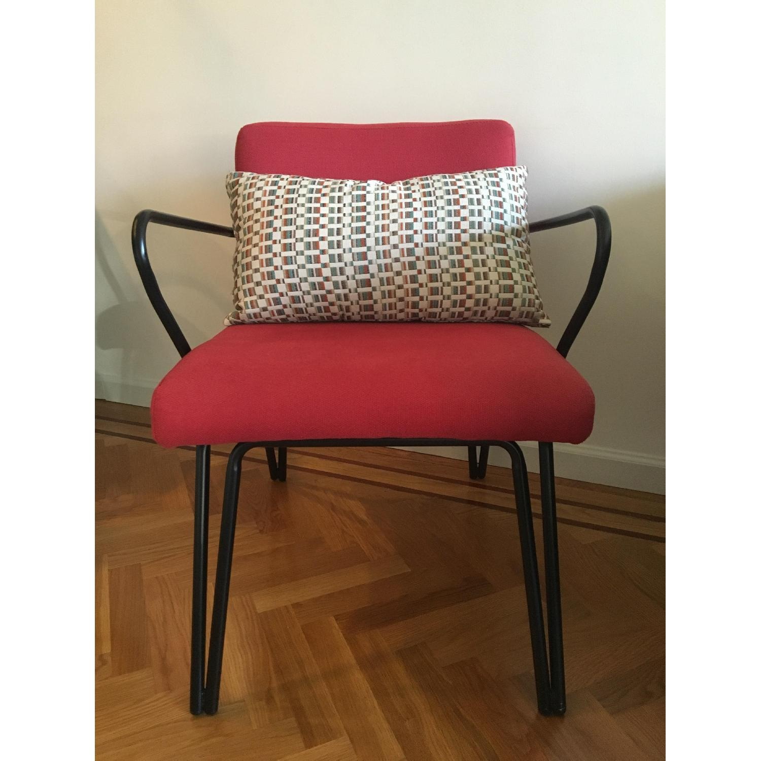 Red Upholstery Accent Chair - image-1