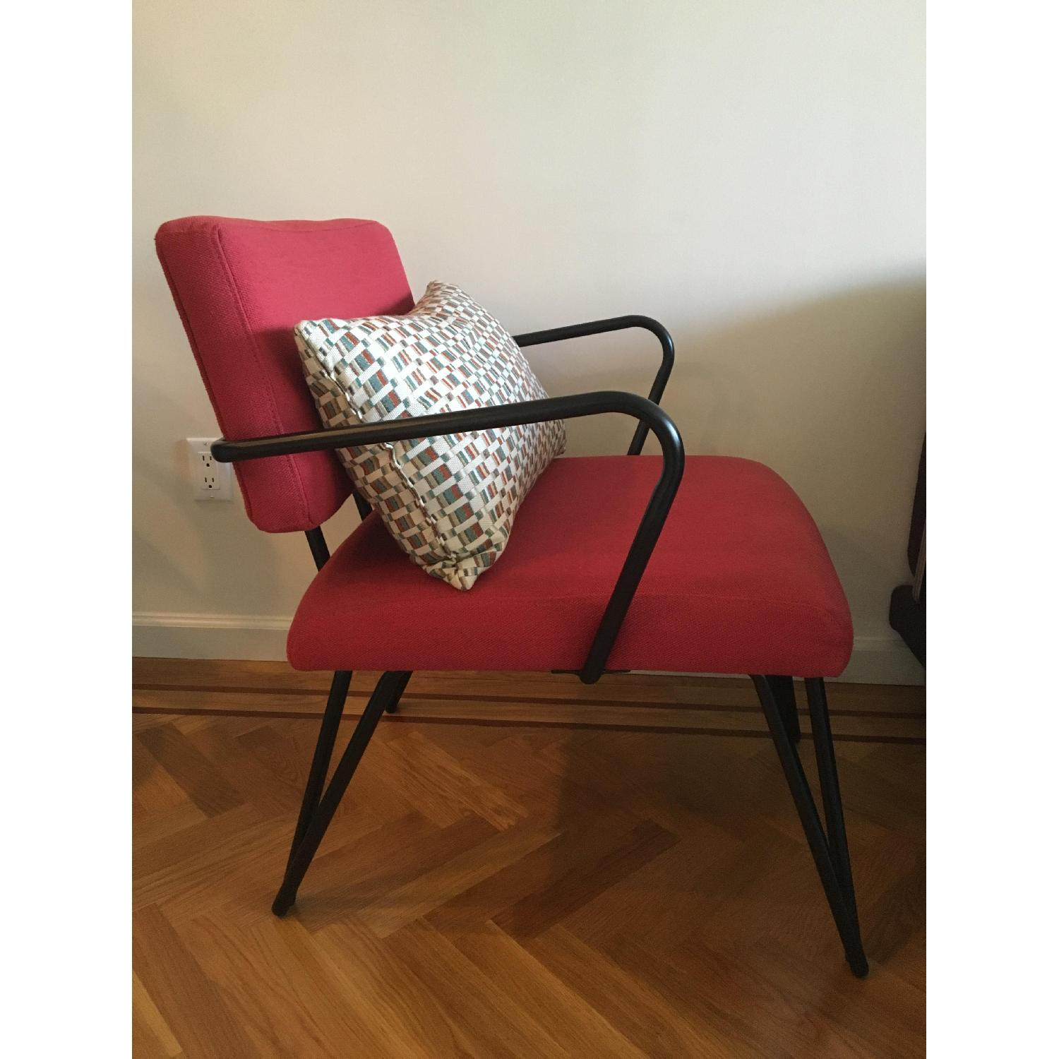 Red Upholstery Accent Chair - image-2
