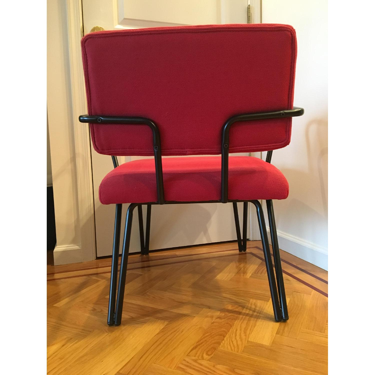 Red Upholstery Accent Chair - image-4