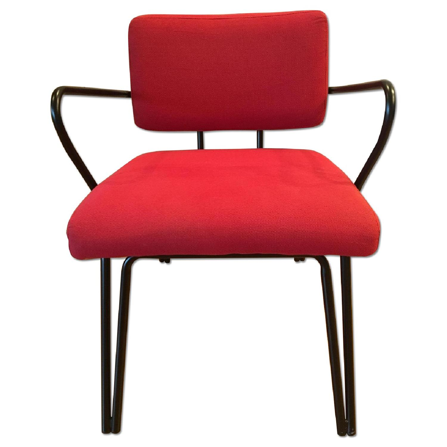 Red Upholstery Accent Chair - image-0