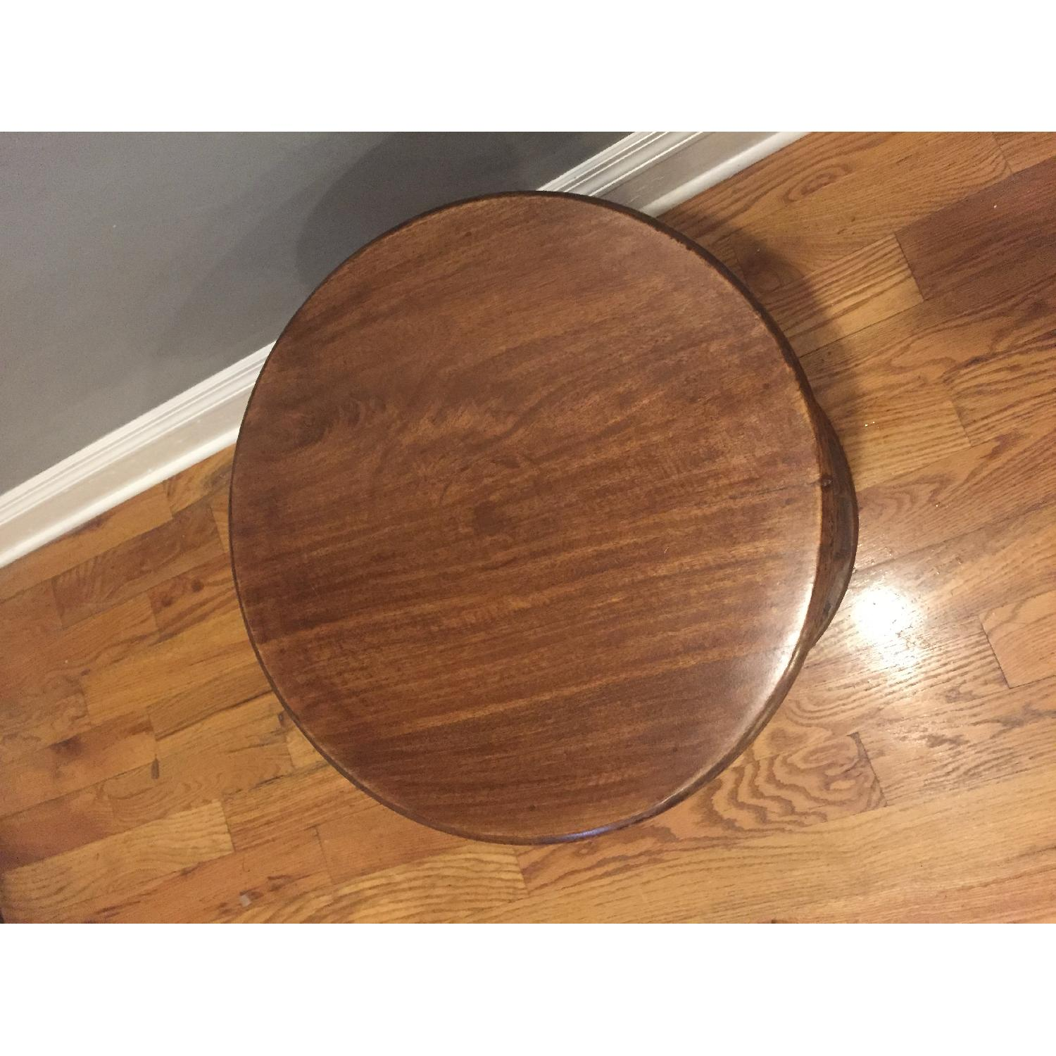 Ballard Designs Round Carved Wood Side Table - image-3