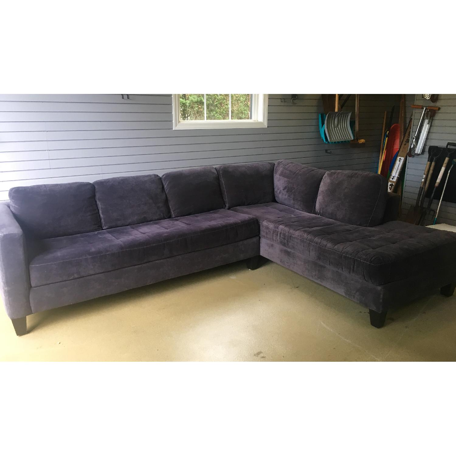 Macy's Large Charcoal Sectional - image-1