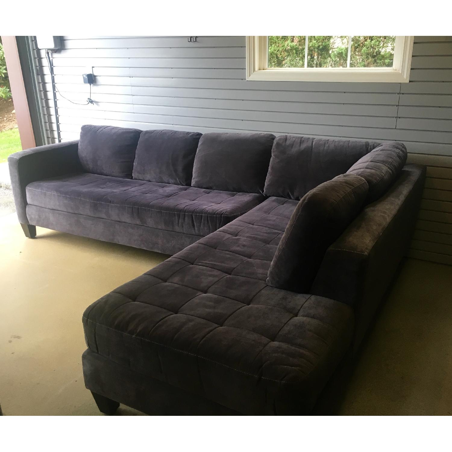 Macy's Large Charcoal Sectional - image-2