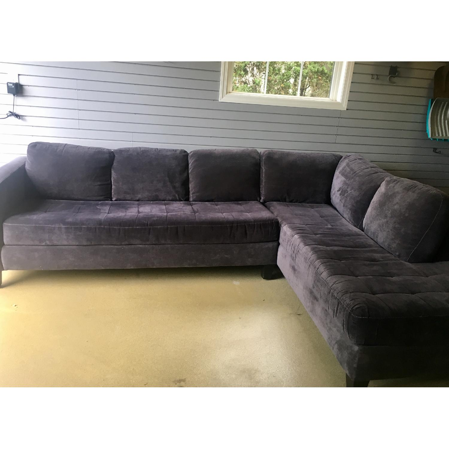 Macy's Large Charcoal Sectional - image-3