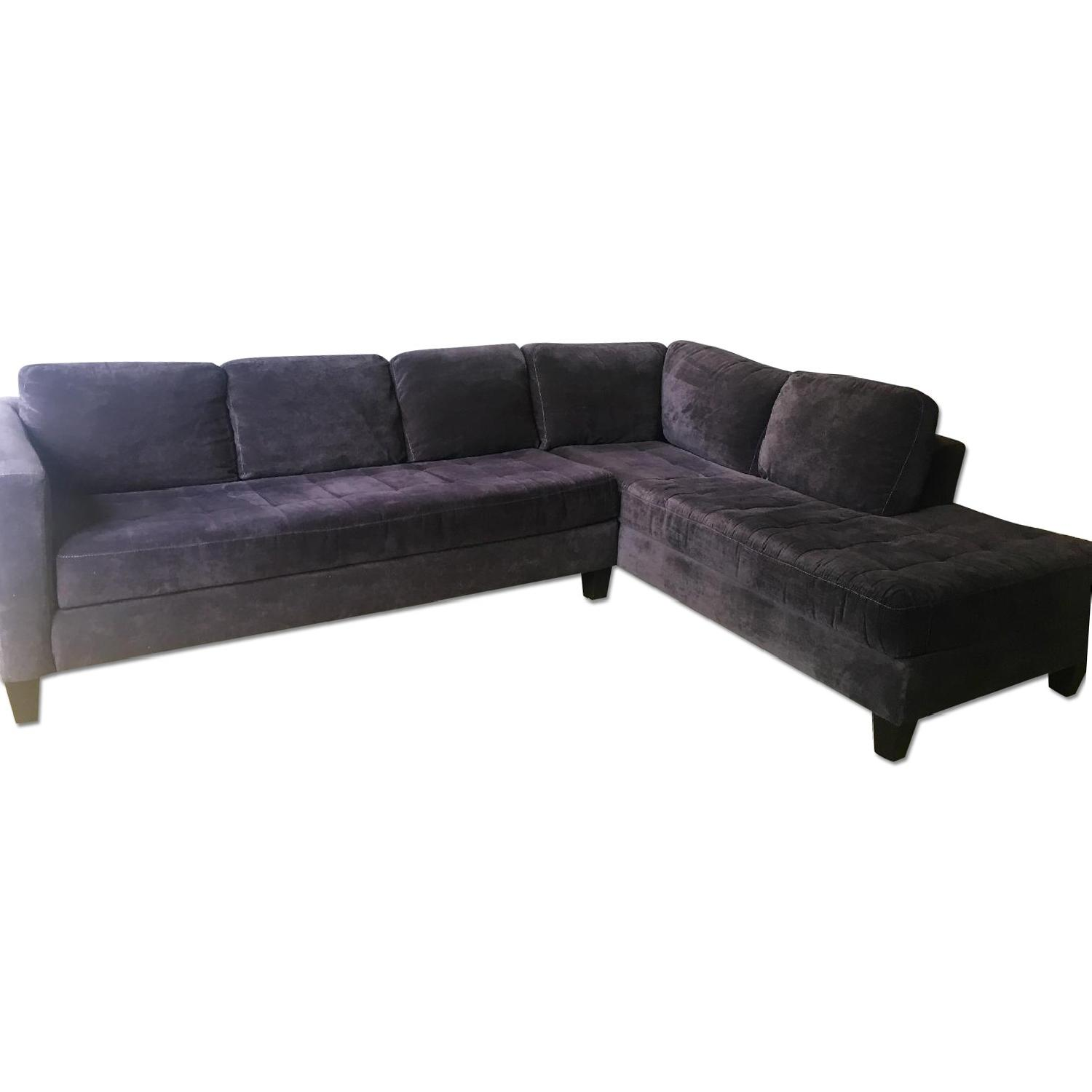 Macy's Large Charcoal Sectional - image-0