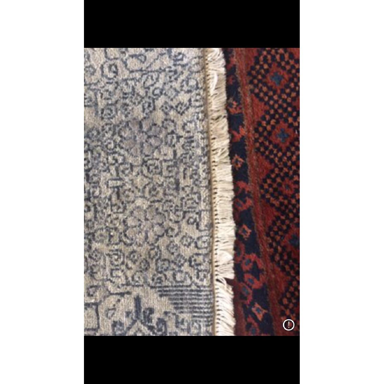 Bloomingdale's Indian Ikat Hanf Woven Wool Rug - image-2