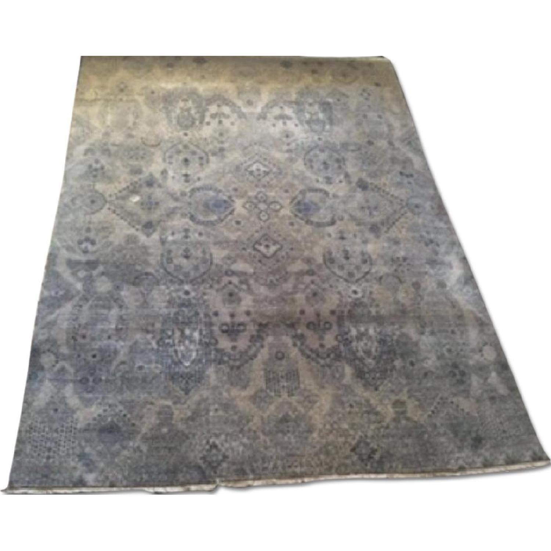 Bloomingdale's Indian Ikat Hanf Woven Wool Rug - image-0