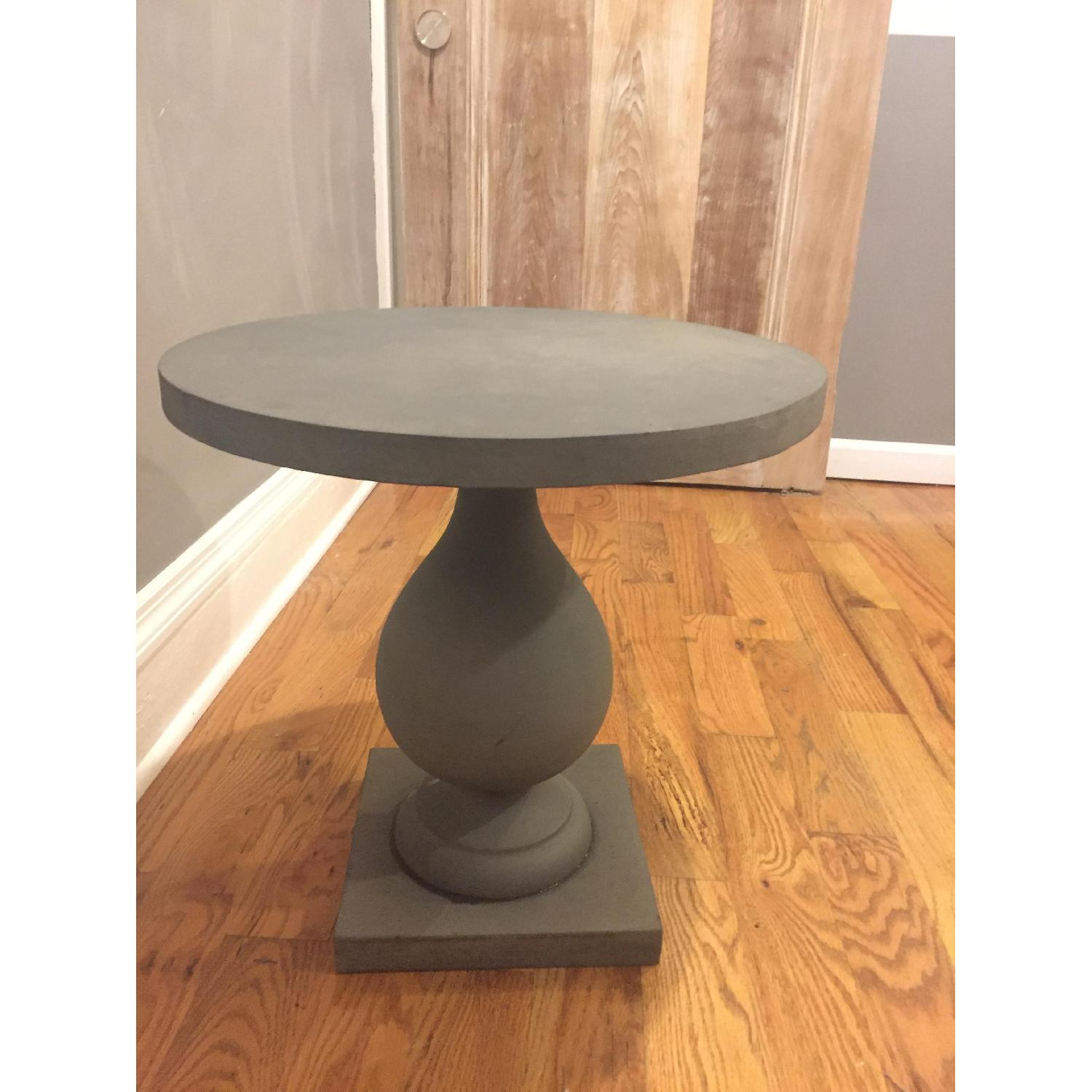 Zinc Pedestal Side Table - image-2