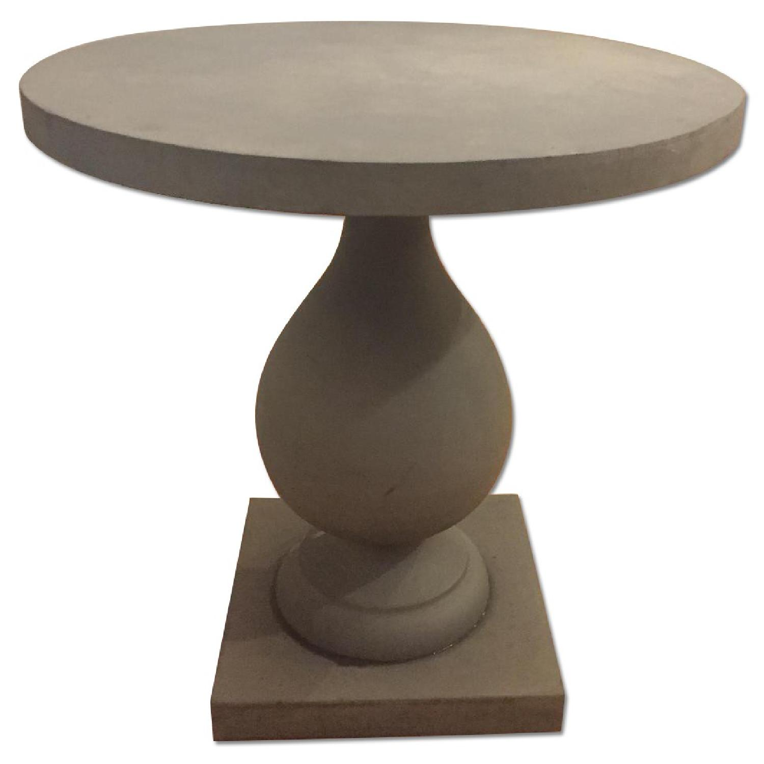 Zinc Pedestal Side Table - image-0