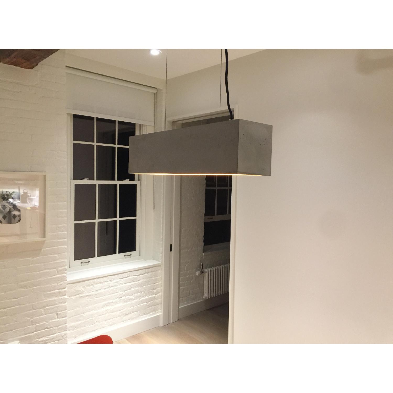 Gant Rectangular Grey Concrete Pendant Light - image-1