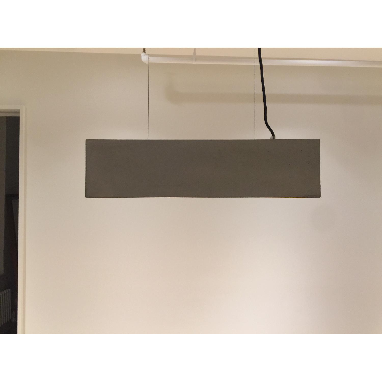 Gant Rectangular Grey Concrete Pendant Light - image-2