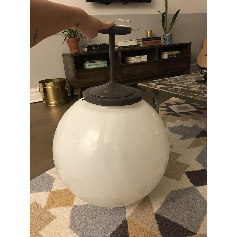 Glass Globe Ceiling Light - image-1