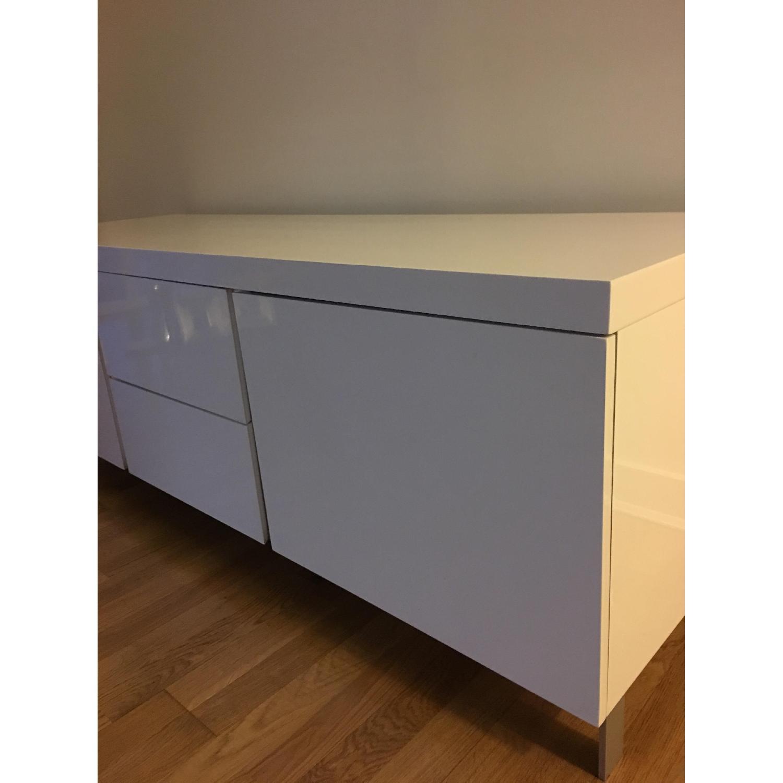 Modani White Lacquer Sideboard - image-7
